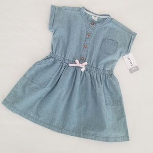 NWT Carter's Kids Infant Girl Chambray Dress 24M